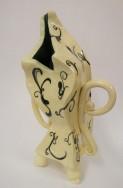 Sculpture Slab Forming Vase Front